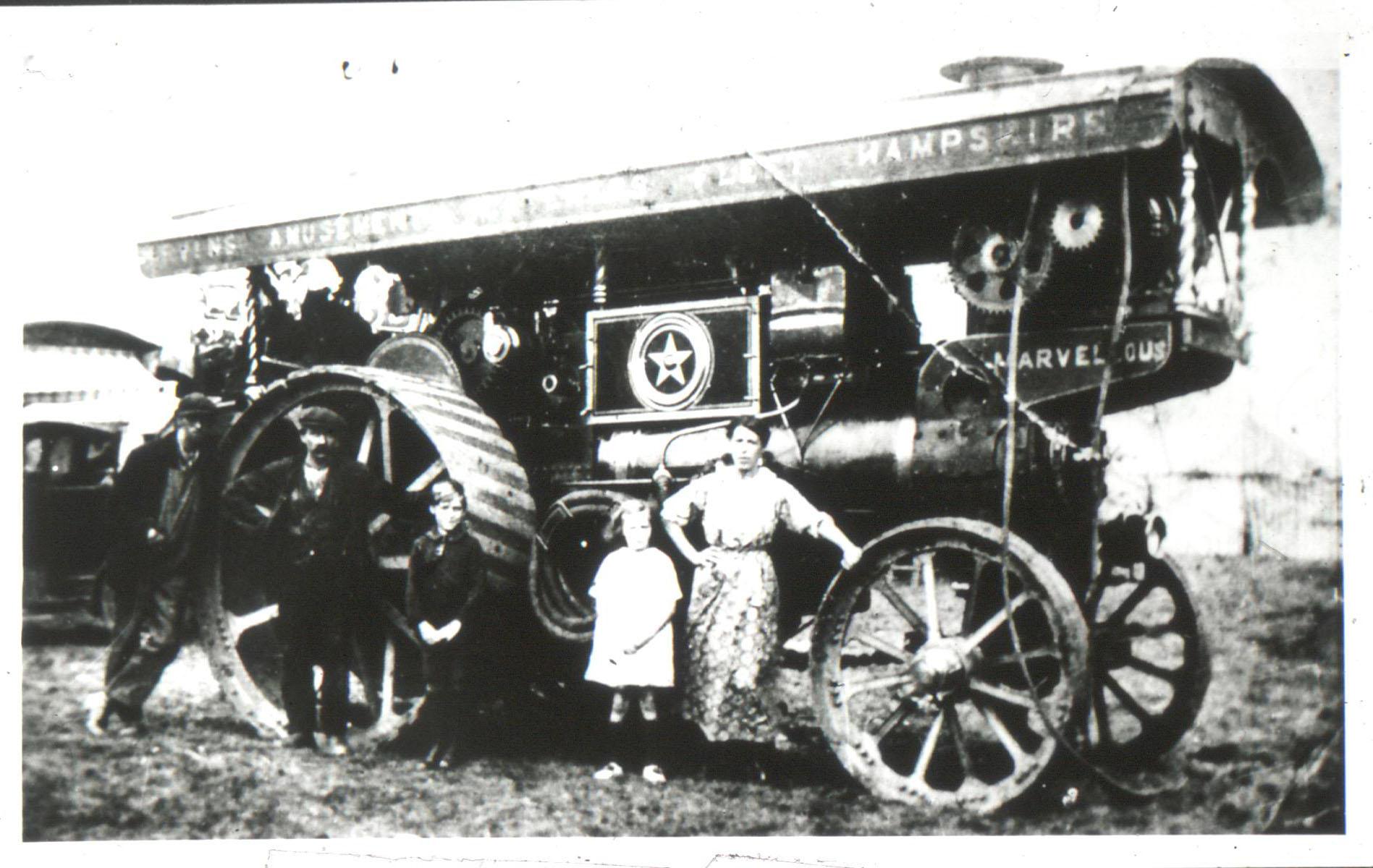 Fairground Traction Engine on Westcott Green