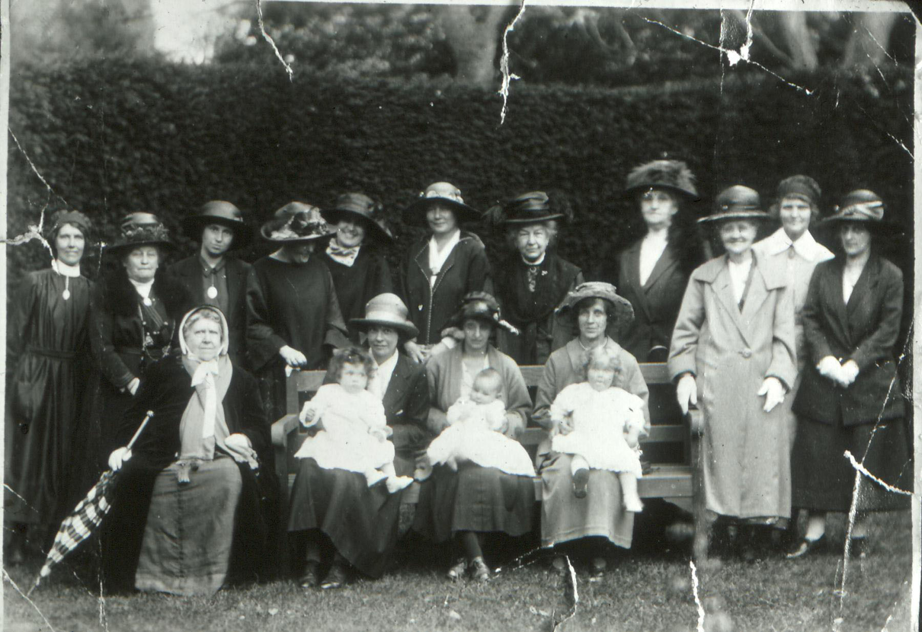 group of ladies with 3 babies