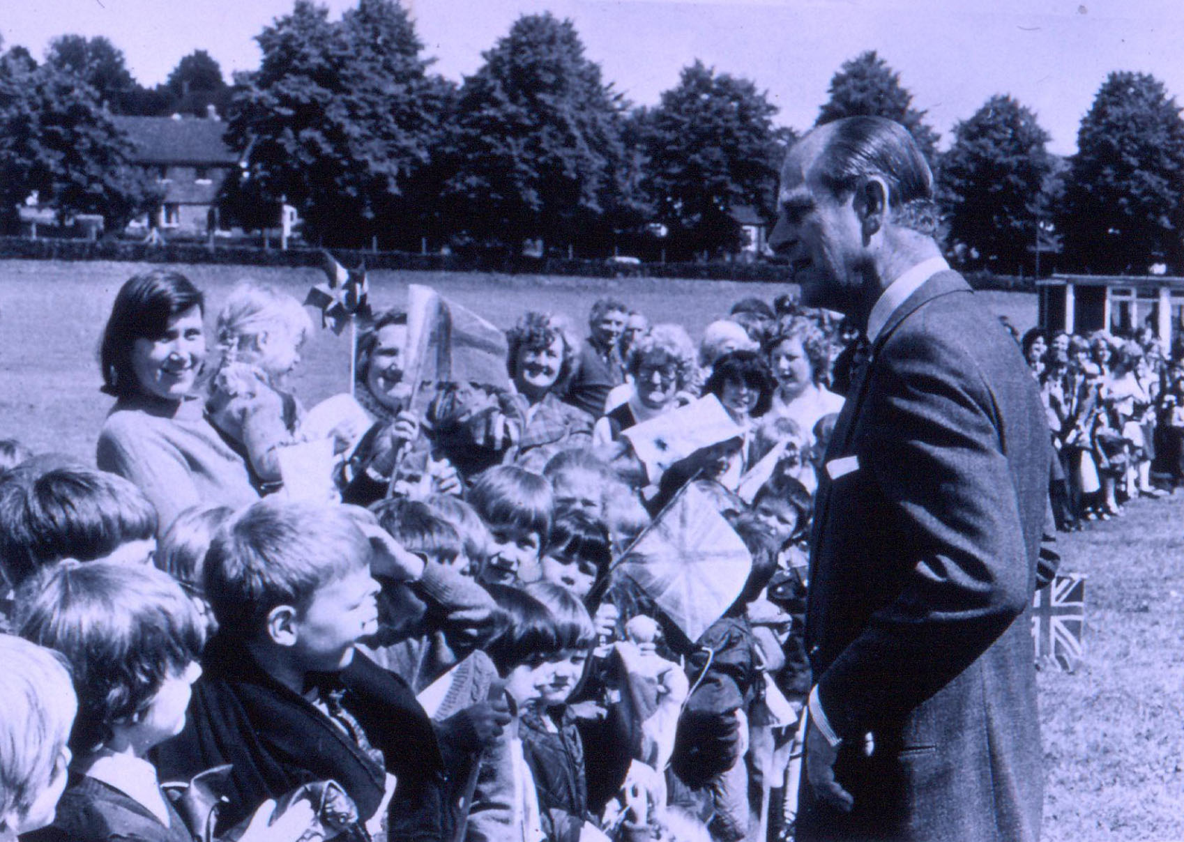 Prince Philip with admirers